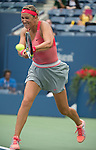 Victoria Azarenka (BLR) takes on Ana Ivanovic (SRB) at the US Open being played at USTA Billie Jean King National Tennis Center in Flushing, NY on September 3, 2013