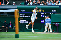 Roger Federer (Sui)<br /> London 07/07/2021 Wimbledon <br /> Tennis Grande Slam 2021<br /> Photo Antonie Couvercelle / Panoramic / Insidefoto <br /> ITALY ONLY