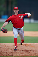 Washington Nationals Justin Thomas (30) during a minor league Spring Training game against the Detroit Tigers on March 28, 2016 at Tigertown in Lakeland, Florida.  (Mike Janes/Four Seam Images)
