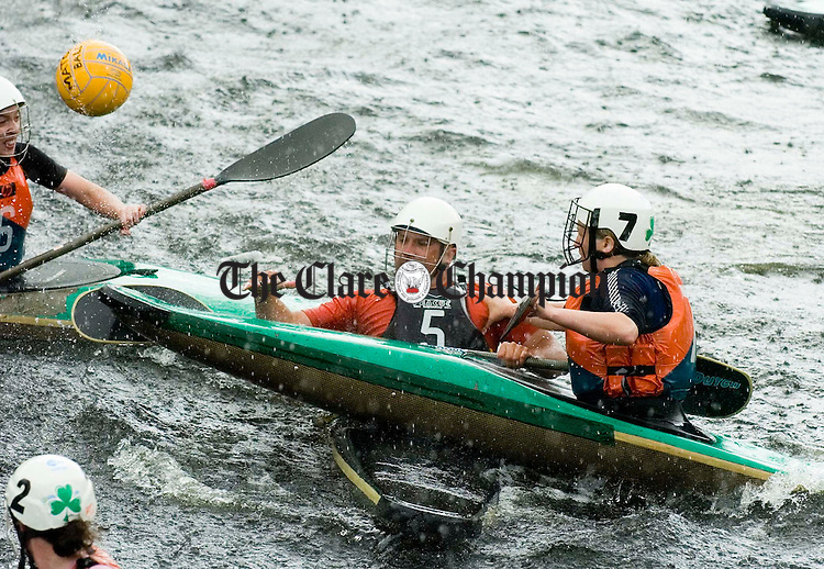 Action from the  Canoe Polo championships in Killaloe as part of the Brian Boru Festival. Photograph by John Kelly.