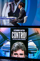 Former deputy of Movement 5 Stars and writer Alessandro Di Battista appears as a guest on the talk show Porta a Porta to present his new book 'Contro'.<br /> Rome (Italy), May 25th 2021<br /> Photo Samantha Zucchi Insidefoto