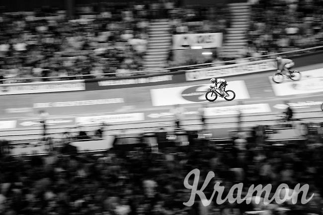 Iljo Keisse (BEL/Etixx-QuickStep) speeding along on his home track: the iconic Kuipke Velodrome<br /> <br /> 2015 Gent 6