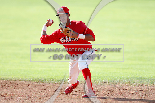 July 19, 2009:  Second Baseman Guillermo Toribio of the Batavia Muckdogs during a game at Dwyer Stadium in Batavia, NY.  The Muckdogs are the NY-Penn League Short-Season Class-A affiliate of the St. Louis Cardinals.  Photo By Mike Janes/Four Seam Images