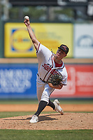 Richmond Flying Squirrels relief pitcher R.J. Dabovich (23) in action against the Bowie Baysox at The Diamond on July 28, 2021, in Richmond Virginia. (Brian Westerholt/Four Seam Images)
