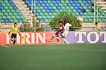 Qatar vs Oman during the 2014 AFC U19 Mens Championship group D match on October 14, 2014 at the Thuwunna Stadium in Yangon, Myanmar. Photo by World Sport Group