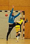 Deutschland - Sport<br /> Handball - Aufstiegsrunde zur 2. Bundesliga<br /> TuS Dansenberg (dan) - HSG Krefeld Niederrhein (kref) 24:21<br /> Siebenmeter-Killer Torwart Kevin KLIER (TuS Dansenberg)<br /> <br /> Foto © PIX-Sportfotos *** Foto ist honorarpflichtig! *** Auf Anfrage in hoeherer Qualitaet/Aufloesung. Belegexemplar erbeten. Veroeffentlichung ausschliesslich fuer journalistisch-publizistische Zwecke. For editorial use only.