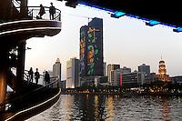 CHINA province Guangdong, city Guangzhou at pearl river / VR CHINA , Metropole Guangzhou Kanton am Perlfluss