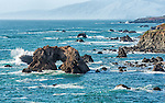 The Sonoma coast at Arch Rock Beach, located off Highway 1 between Bodega Bay and Jenner.
