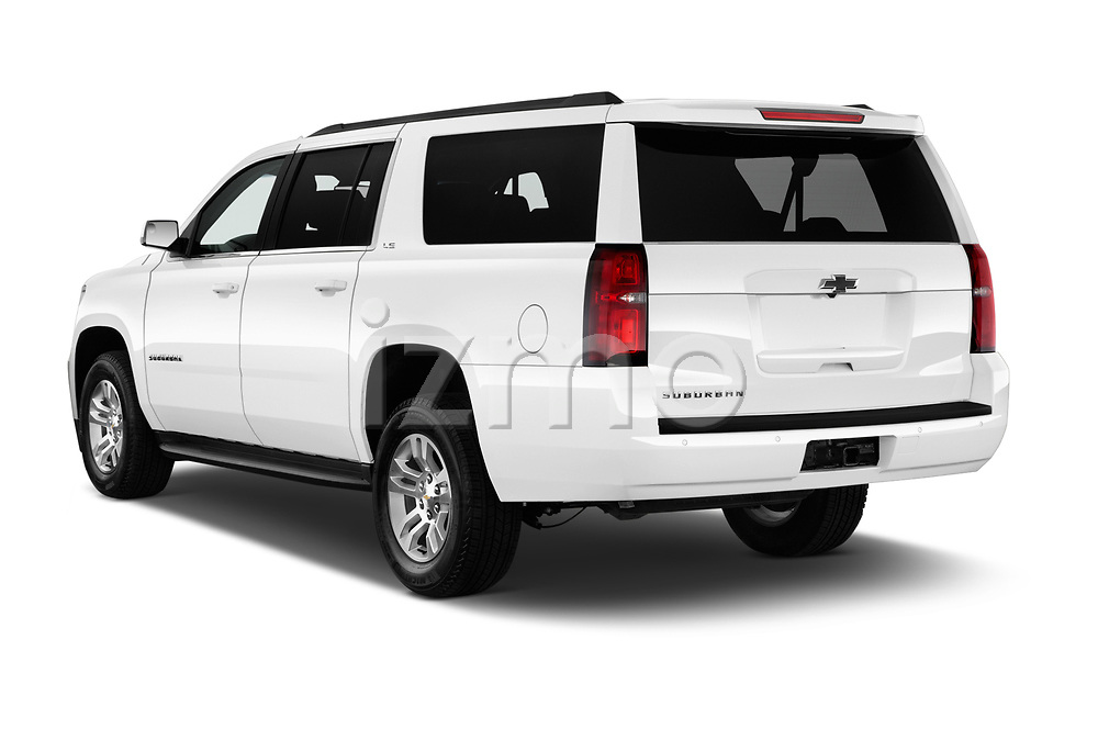 Car pictures of rear three quarter view of 2016 Chevrolet Suburban 1500 LS 5 Door SUV angular rear