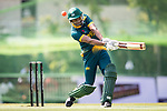 Farhaan Sayanvala of South Africa hits a shot during Day 2 of Hong Kong Cricket World Sixes 2017  match between South Africa vs Sri Lanka at Kowloon Cricket Club on 29 October 2017, in Hong Kong, China. Photo by Yu Chun Christopher Wong / Power Sport Images