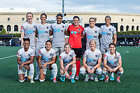 Boston, MA - Sunday May 07, 2017: North Carolina Courage starting eleven prior to a regular season National Women's Soccer League (NWSL) match between the Boston Breakers and the North Carolina Courage at Jordan Field.