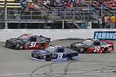 #19: Brandon Jones, Joe Gibbs Racing, Toyota Camry Toyota XYO Networks and #51: Jeremy Clements, Jeremy Clements Racing, Chevrolet Camaro RepairableVehicles.com