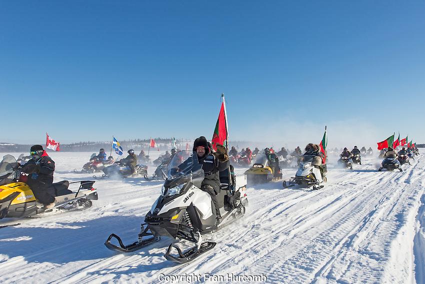 Canadian Rangers on parade Yellowknife Bay