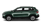 Car driver side profile view of a 2018 Skoda Karoq Ambition 5 Door SUV