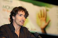 FILE August 2002, Montreal, Quebec, Canada; <br /> <br /> Justin Trudeau, speak in Montreal ,