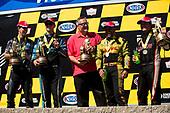 NHRA Mello Yello Drag Racing Series<br /> Toyota NHRA Sonoma Nationals<br /> Sonoma Raceway, Sonoma, CA USA<br /> Sunday 30 July 2017<br /> J.R. Todd, DHL, Toyota, Camry, Funny Car, Winner, Celebration, Trophy, Paul Doleshal<br /> <br /> World Copyright: Jason Zindroski<br /> HighRev Photography