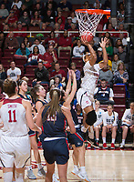 STANFORD, CA - March 17, 2018: DiJonai Carrington at Maples Pavilion. The Stanford Cardinal defeated the Gonzaga Bulldogs 82-68 to advance to the second round of the NCAA tournament.