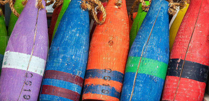 Colorful buoys.