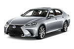 2016 Lexus GS F-Sport-RWD 4 Door Sedan Angular Front stock photos of front three quarter view