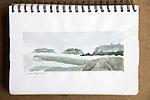 Turet Island, Barkley Soiund, watercolor, Journal Art 2007