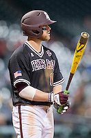 Texas A&M Aggies designated hitter Logan Taylor (17) at the plate during the Houston College Classic against the Baylor Bears on March 8, 2015 at Minute Maid Park in Houston, Texas. Texas A&M defeated Baylor 3-2. (Andrew Woolley/Four Seam Images)