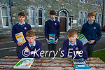 James Williams and Jack Cronin with back l-r: Evan O'Neill, Calum O'Leary and Cian Myers who returned to studying in St Brendans College Killarney on Monday
