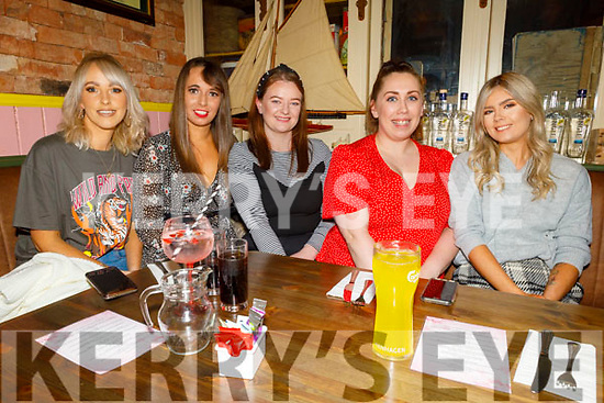 Rachel Bowler, Megan O'Sullivan, Kaley Commerford, Siobhan Farrell and Blainid Finn enjoying the evening in the Mall Tavern on Friday.