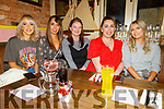 Rachel Bowler, Megan O'Sullivan, Kaley Commerford, Siobhan Farrell and Blainid Finn enjoying the evening in the Mall Tavern on Friday.