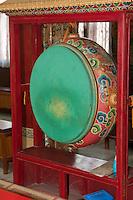 Bodhnath, Nepal.  Drum inside the Tsamchen Gompa (Tibetan Buddhist Monastery).