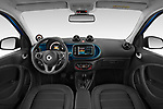 Stock photo of straight dashboard view of 2020 Smart EQ-forfour Comfort-Plus 5 Door Hatchback Dashboard