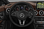 Car pictures of steering wheel view of a 2018 Mercedes Benz CLA-Class CLA250 4 Door Sedan Steering Wheel