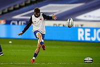 31st October 2020; Stade de France, Paris, France; Six Nations Rugby International, France versus Ireland;  Baptiste Serin ( 21 - France ) during pre-game warm-up