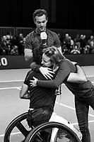 Rotterdam, The Netherlands, 14 Februari 2019, ABNAMRO World Tennis Tournament, Ahoy, Wheelchair, Final, Stephane Houdet (FRA) vs. Joachim Gerard (BEL),<br /> Photo: www.tennisimages.com/Henk Koster