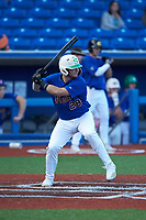 Cole Messina (28) of Summerville High School (SC) playing for the New York Mets scout team during game three of the South Atlantic Border Battle at Truist Point on September 26, 2020 in High Pont, NC. (Brian Westerholt/Four Seam Images)