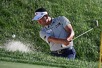 4th June 2021; Dublin, Ohio, USA;   K.J. Choi (USA) hits out of the sand on the 17th hole during the second round of the Memorial Tournament at Muirfield Village Golf Club in Dublin, Ohio on June 04, 2021.