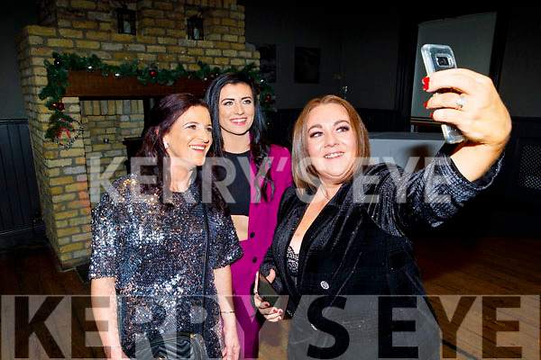 Sarah Whitehead, Jackie Wyles and Ciara Lynch taking a selfie at the Garveys Supervalu Christmas party in the Ashe Hotel on Saturday