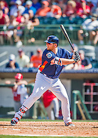 15 March 2016: Houston Astros first baseman A.J. Reed, ranked the Number One Top Prospect in the Astros organization for 2016 by Baseball America, in action during a Spring Training pre-season game against the Washington Nationals at Osceola County Stadium in Kissimmee, Florida. The Astros fell to the Nationals 6-4 in Grapefruit League play. Mandatory Credit: Ed Wolfstein Photo *** RAW (NEF) Image File Available ***
