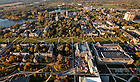 Aerial showing main circle looking north toward God Quad...Photo by Matt Cashore/University of Notre Dame