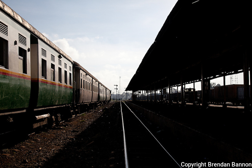 Platform 2 in the Nairobi Railways Station.