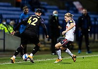 Bolton Wanderers' Lloyd Isgrove competing with Newcastle United U21's Achraf Lazaar (left) <br /> <br /> Photographer Andrew Kearns/CameraSport<br /> <br /> EFL Papa John's Trophy - Northern Section - Group C - Bolton Wanderers v Newcastle United U21 - Tuesday 17th November 2020 - University of Bolton Stadium - Bolton<br />  <br /> World Copyright © 2020 CameraSport. All rights reserved. 43 Linden Ave. Countesthorpe. Leicester. England. LE8 5PG - Tel: +44 (0) 116 277 4147 - admin@camerasport.com - www.camerasport.com