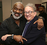 """BeBe Winans and William Ivey Long backstage after a Song preview performance of the Bebe Winans Broadway Bound Musical """"Born For This"""" at Feinstein's 54 Below on November 5, 2018 in New York City."""