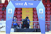 banner Serie A Tim<br /> prior to the Serie A football match between SC Benevento and Bologna FC at stadio Ciro Vigorito in Benevento (Italy), October 04th, 2020. <br /> Photo Cesare Purini / Insidefoto