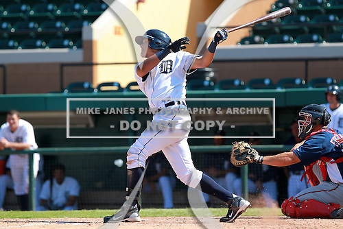 Detroit Tigers outfielder Avisail Garcia (79) during a game vs. the Washington Nationals in an Instructional League game at Joker Marchant Stadium in Lakeland, Florida;  October 1, 2010.   Photo By Mike Janes/Four Seam Images