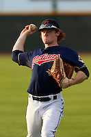 Clint Frazier #11 of the AZL Indians before a game against the AZL Giants at the Cleveland Indians Spring Training Complex on July 11, 2013 in Goodyear, Arizona. AZL Giants defeated the AZL Indians, 19-3. (Larry Goren/Four Seam Images)
