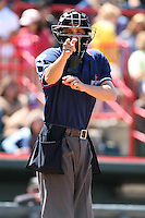 May 31, 2009:  Home Plate Umpire Adam Hamari during a game at Jerry Uht Park in Erie, NY.  Photo by:  Mike Janes/Four Seam Images