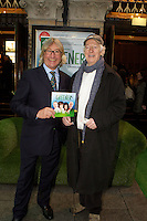 NO FEE PICTURES.1/5/12 John Costigan and Tom Hickey at the opening night of the world premiere of Fiona Looney's new play Greener at the Gaiety Theatre, Dublin. Picture:Arthur Carron/Collins