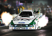 Sept. 16, 2011; Concord, NC, USA: NHRA funny car driver Mike Neff during qualifying for the O'Reilly Auto Parts Nationals at zMax Dragway. Mandatory Credit: Mark J. Rebilas-US PRESSWIRE