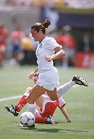 Los Angeles, CA - July 10, 1999: USA vs China, Women's World Cup 1999 Finals. USA 0, China 0. USA wins 5-4 on penalty kicks.