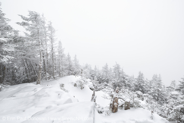 December 2013 - Whiteout conditions on Mount Tecumseh in Waterville Valley, New Hampshire on a cold winter day in December. This area use to have trees, but they were illegally cut down to improve the view from this spot.
