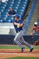 Luca Dalatri (20) of Christian Brothers Academy in Wall, New Jersey playing for the Texas Rangers scout team during the East Coast Pro Showcase on July 29, 2015 at George M. Steinbrenner Field in Tampa, Florida.  (Mike Janes/Four Seam Images)